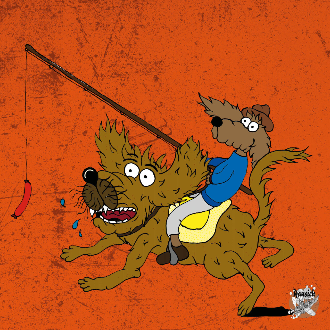 Rattenhund - Illustration - Ransicks wimmelige Welten - Illustration und Grafikdesign Jonas Gallenkamp